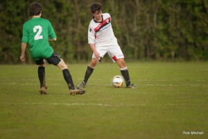 Sam Jones playing for Willand Rovers U16 Picture by Rob Mitchell